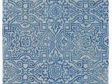 Midnight Blue area Rug Baxter Geometric Handmade Tufted Midnight Blue area Rug