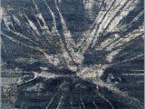 Midnight Blue area Rug Midnight Blue Beige Splash Abstract Explosion Pattern