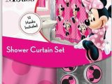 Minnie Mouse Bathroom Rug 13pc Disney Pink Minnie Mouse Shower Curtain and Hooks Set