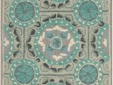 """Mint Green and Brown area Rug Safavieh Four Seasons Collection Frs485d Hand Hooked area Rug 2 6"""" X 4 Mint Aqua"""