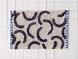 Modern Bath Mats Rugs Modern Lines Textured Bath Mat