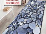 Modern Bath Mats Rugs Wujie 24×71 3d Pebble Pattern Bathroom Carpet Doormat