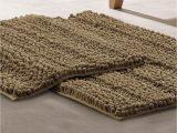 Modern Bath Rug Set Modern Threads Chenille Noodle Bath Mat 2 Piece Set Taupe
