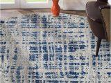 Modern Blue Gray Rug ashley Abstract Modern Blue Grey Round Rug Rugselect