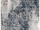 Modern Blue Gray Rug Mist Breeze Transitional Rug