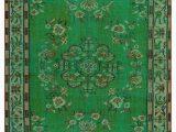 "Modern Emerald Green area Rug Green Turkish Vintage area Rug 5 1"" X 8 61 In X 96 In"