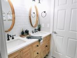 Modern Farmhouse Bathroom Rugs Modern Farmhouse Bathroom Reveal with Boho Vibes