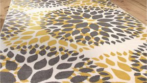 """Modern Floral Circles area Rug Modern Floral Circles Design area Rugs 7 6"""" X 9 5"""" Yellow"""