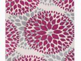 Modern Floral Circles area Rug Modern Floral Circles Pink 5 X7 area Rug