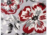 Modern Floral Circles area Rug Modern Floral Circles Red 5 X 7 Indoor area Rug