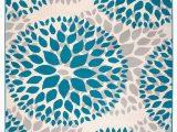 Modern Floral Circles area Rug Rugshop Modern Floral Circles Design area Rug 10 X 14 Blue