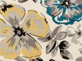 Modern Floral Circles area Rug World Rug Gallery Modern Floral Circles Cream area Rug or Runner