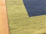Modern Navy Blue Rug Handmade Wool Modern Green Navy Blue 5×8 Lt1459 area Rug