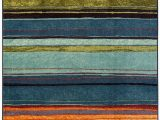 Mohawk Home Boho Stripe area Rug Mohawk Home New Wave Rainbow Multi area Rug