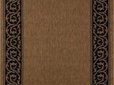 """Mohawk Home Leaf Point Brown Indoor Inspirational area Rug Art Carpet Plymouth Collection Intention Flat Woven Indoor Outdoor area Rug 5 3"""" X 7 7"""" Brown Black"""