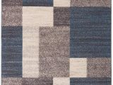 Mohawk Home Mercario Smoke Blue Geometric area Rug World Rug Gallery Avora Modern Boxes Rug In 2020