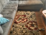 Mohawk Home Mercario Smoke Blue Geometric area Rug World Rug Gallery Newport Modern Floral area Rug