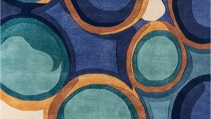 """Momeni New Wave Blue Rug Momeni Rugs New Wave Collection Wool Hand Carved & Tufted Contemporary area Rug 9 6"""" X 13 6"""" Blue"""