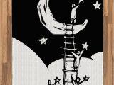 Moon and Stars area Rug Amazon Lunarable Fantasy area Rug People On A Ladder