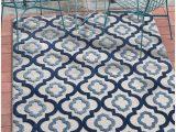 "Moroccan Trellis Rug Blue Tangier Blue Indoor Outdoor Moroccan Trellis area Rug 5×7 5 3"" X 7 3"" High Traffic Stain Resistant Modern Traditional Carpet"