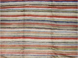 Multi Colored Striped area Rugs Low Pile Tulu Rug with Multi Color Horizontal Stripes Tulu