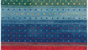 Multi Colored Striped area Rugs Oasis Rainbow 6156 0202 Multi Color Rug From the Gabbeh Rugs