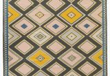 Mustard and Blue Rug Pale Pink Light Mustard and Deep Blue Create A Canvas Of