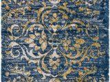 Mustard and Blue Rug Surya Vintage Shag Vts4101 Dark Blue Mustard area Rug