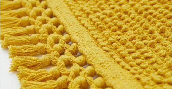 Mustard Yellow Bath Rug Textured Weave Bath Mat Mustard Yellow Home All Hm Us