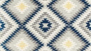 Nala Blue Gray area Rug southwestern Blue Gray Rug
