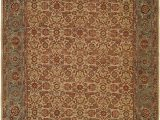 Nathanson Terracotta Peach area Rug Mccullom Hand Knotted Wool Ivory Blue area Rug