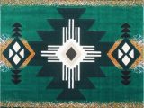 Native American Indian Design area Rugs southwest Native American area Rug Design C318 Hunter Green