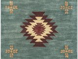 Native American Inspired area Rugs Rizzy Home southwest Hand Tufted area Rug 12 X 15 Grey & Blue