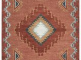 Native American Inspired area Rugs Rizzy Mesa Mz163b Rust area Rug