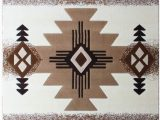 Native American Print area Rugs south West Native American area Rug Design C318 Ivory 8 Feet X 10 Feet