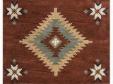 Native American Style area Rugs Eastman southwestern Handmade Tufted Wool Rust area Rug