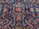 Navy and Blush area Rug Persian Rug Room Size Rug Vintage Rug Antique Rug Navy and