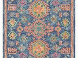 Navy and Coral area Rug Surya Bonifate Bft 1004 area Rugs