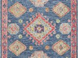 Navy and Coral area Rug Surya Bonifate Bft 1005 area Rugs