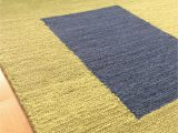 Navy and Green area Rug Handmade Wool Modern Green Navy Blue 5×8 Lt1459 area Rug