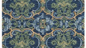 Navy and Green area Rug Safavieh Blossom Blm422a Navy Green area Rug