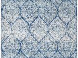 """Navy and Light Blue Rug Madison Collection 6 7"""" X 9 2"""" Rug In Navy and Blue"""