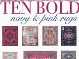 Navy and Pink area Rug 10 Bold Pink and Navy Rugs for Home Decor