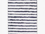 Navy and White Bath Rug Pin On Home Decoration
