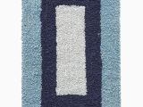 Navy and White Bath Rug Shop Joy Wide Borders Bath Mat Blue Navy White Online In