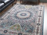 Navy Blue 3×5 Rug Rabia Blue 3×5 Accent Rug area Rugs Rugs In Living Room