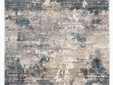 Navy Blue Abstract Rug Carraco Abstract Blue & Cream area Rug