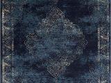 Navy Blue Abstract Rug Navy Blue Light Blue Beige oriental Distressed – Modern