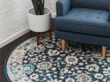 Navy Blue and Black area Rug Ernst Navy Blue Black area Rug