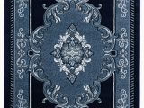 Navy Blue and Black area Rug Josephus Navy Black area Rug